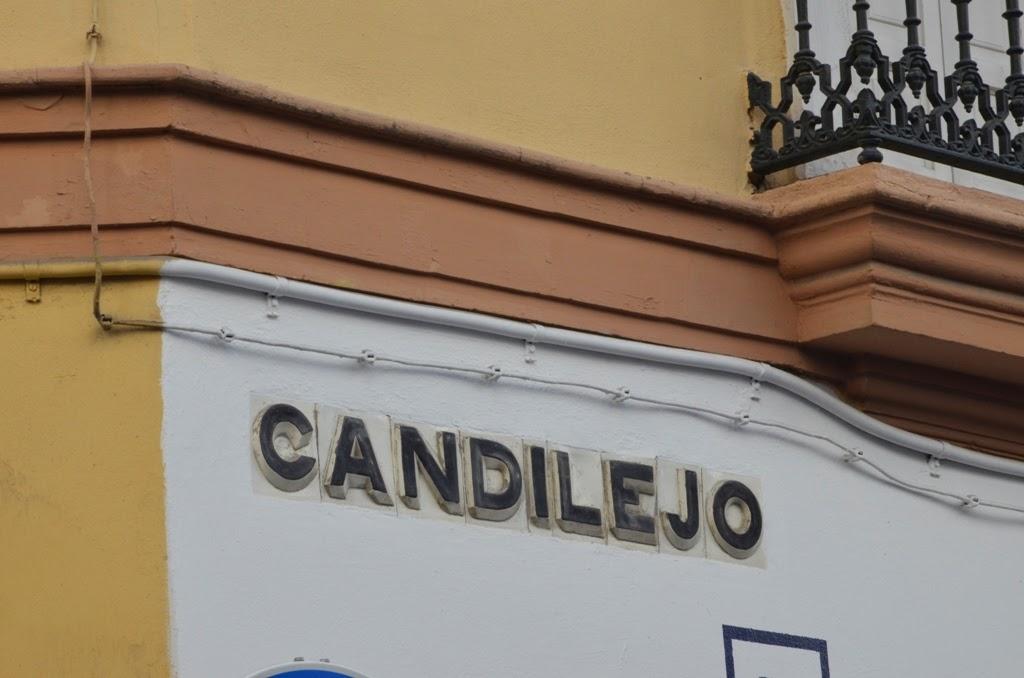 Rótulo calle Candilejo - Sevilla
