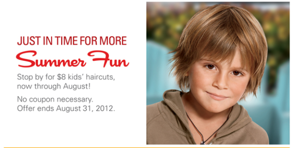 Savers: SmartStyle kids haircuts just $8 now through August 31