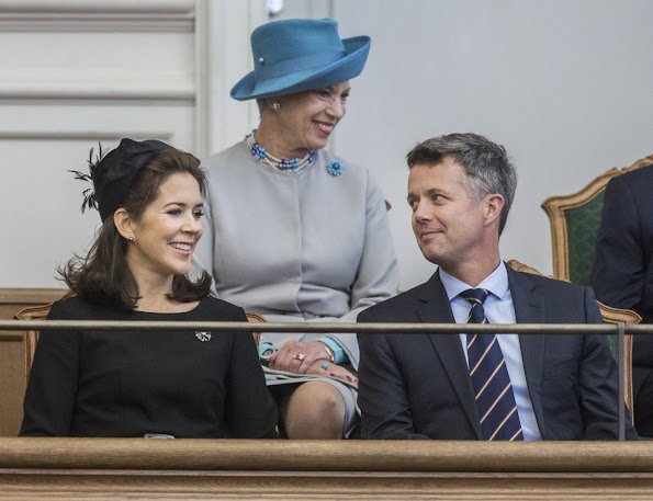 Crown Prince Frederik and Crown Princess Mary, Prince Joachim and Princess Marie and Princess Benedikte