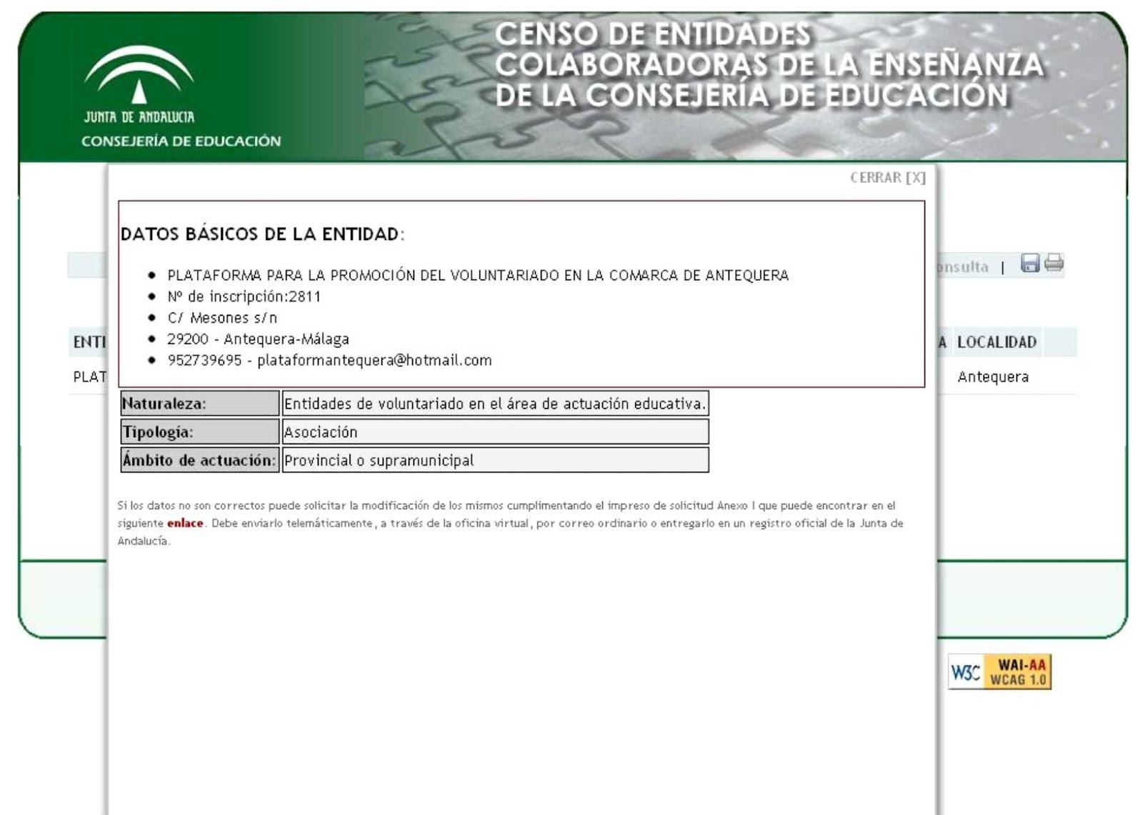 Plataforma Del Voluntariado Comarca Antequera Nuevo