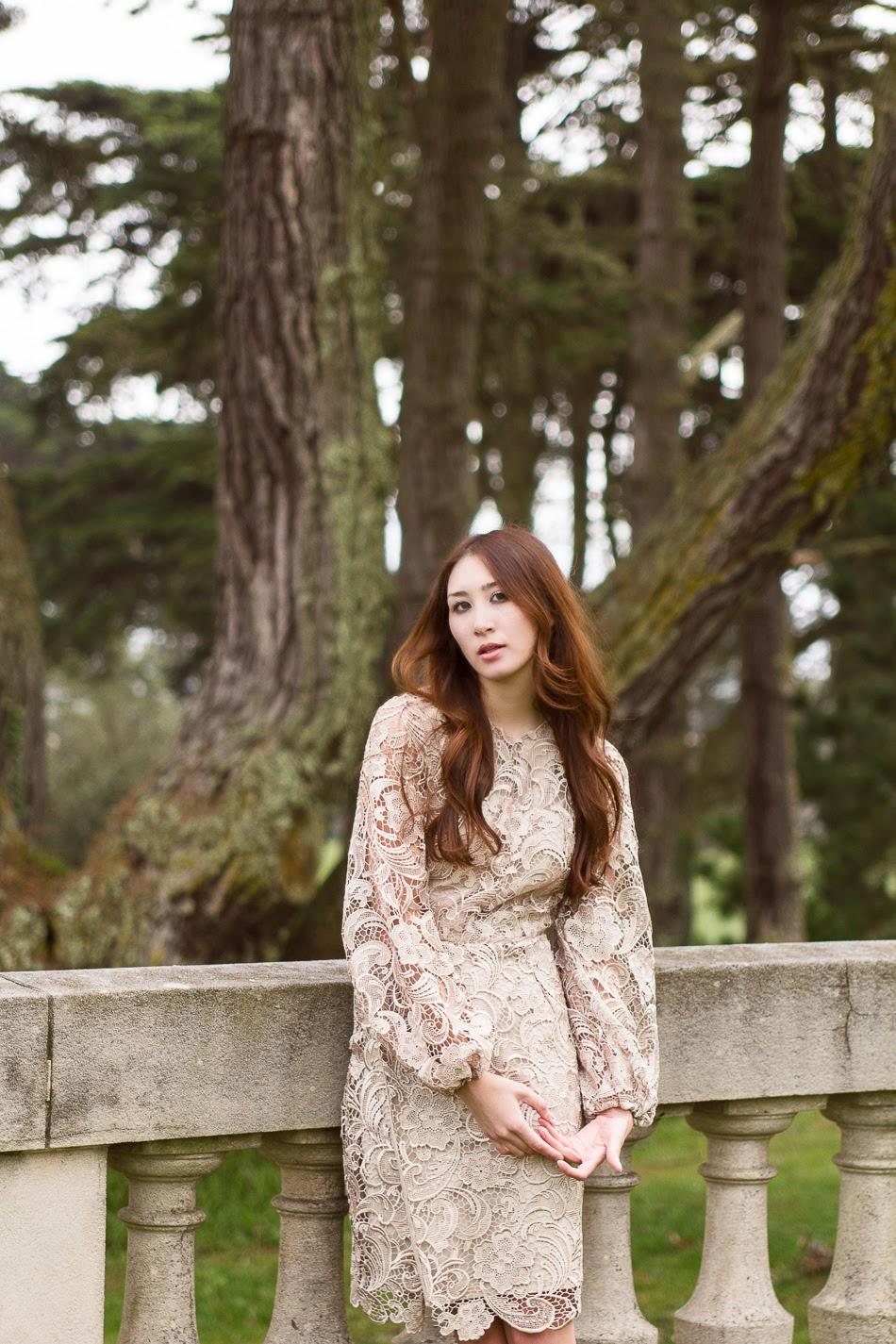 Alyssa Nicole Lace Bell Sleeve Dress