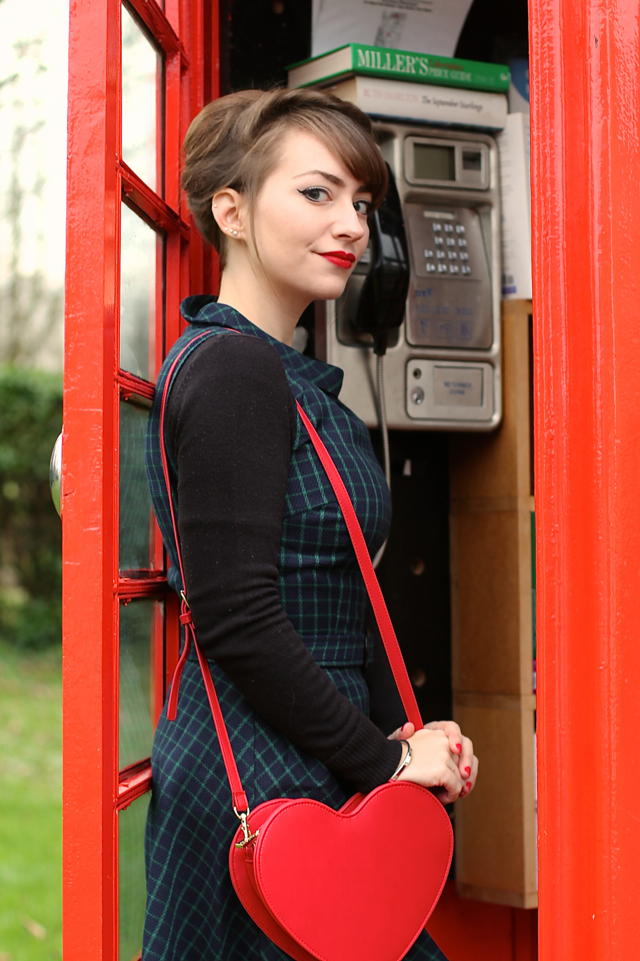 Bright and Beautiful Ruth dress for a 60s style winter look