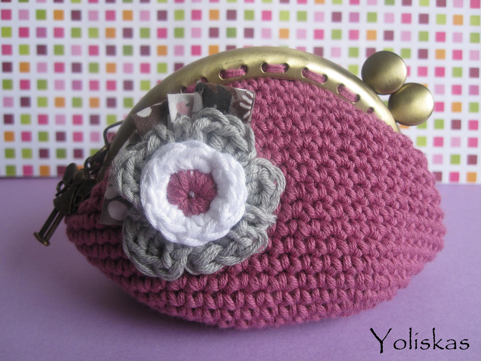 Monederos en crochet - Imagui