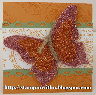 Big Shot Butterfly and Glitter Card