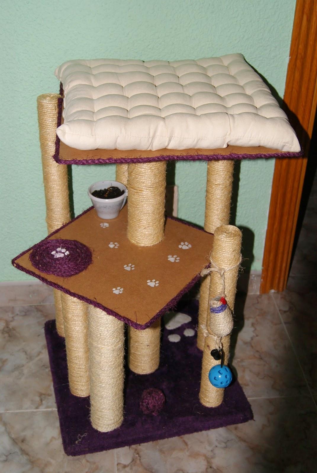 Perspa creaciones reciclaje y bricolaje rascador para gatos - Trepadores para gatos ...