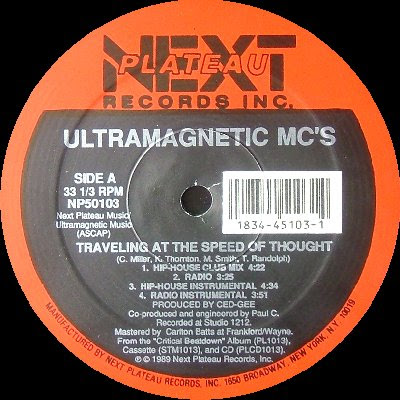 Ultramagnetic MC's – Traveling At The Speed Of Thought / A Chorus Line (VLS) (1989) (320 kbps)