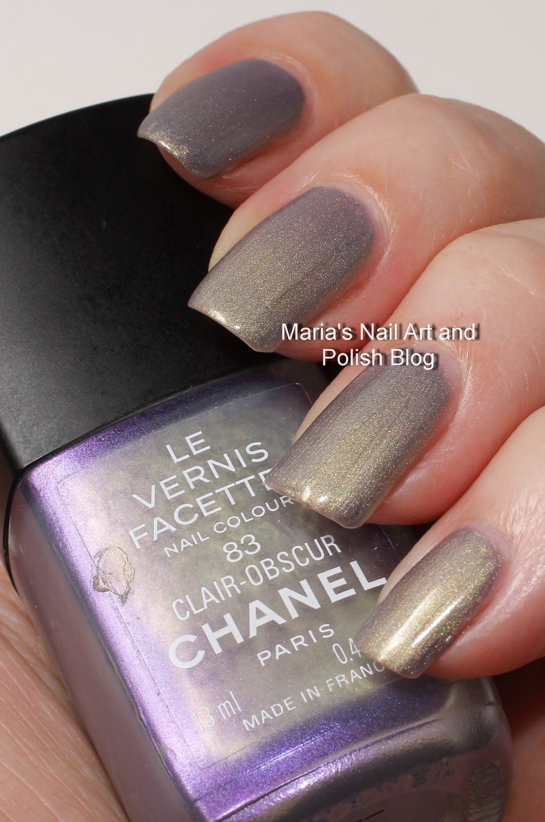 marias nail art and polish blog chanel claire obscur 83 les vernis facettes coll 2000. Black Bedroom Furniture Sets. Home Design Ideas