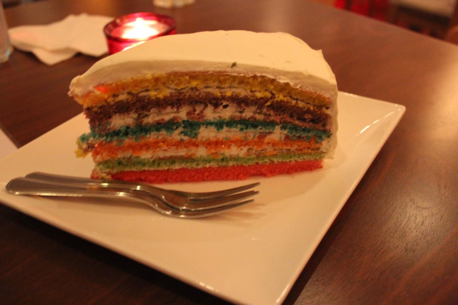 لواط با دوستم من خيلی خوشحالم: کیک رنگینکمانی