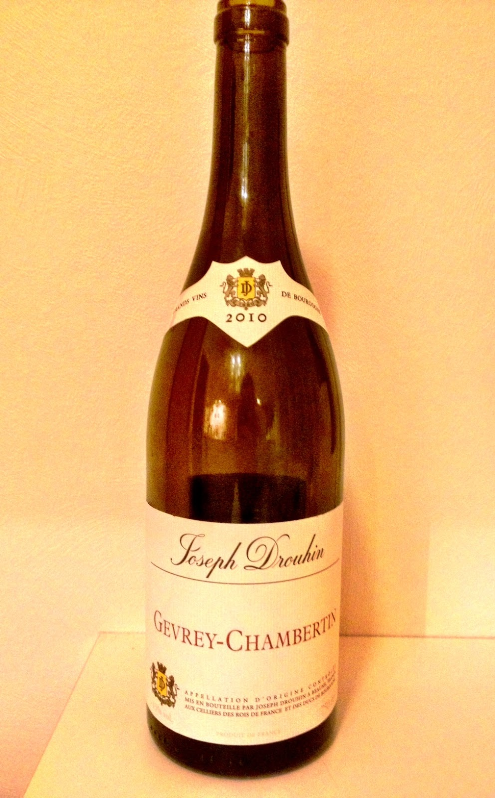 Tasting note on the 2010 Joseph Drouhin Gevrey Chambertin