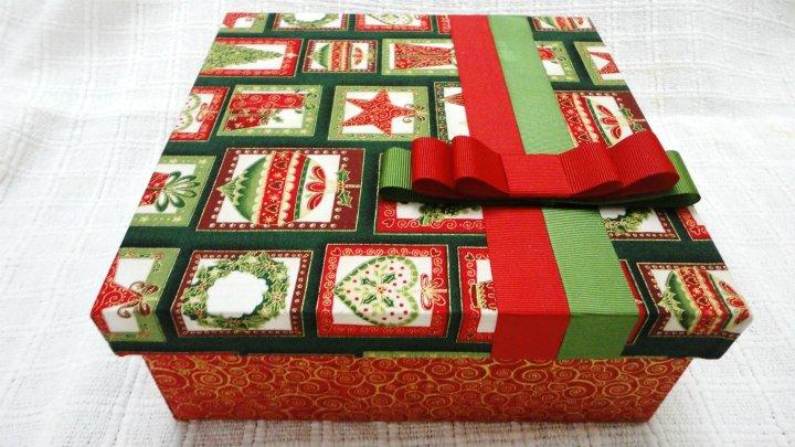 Oficina de caixas caixa de decora o para natal for Oficina de caixa