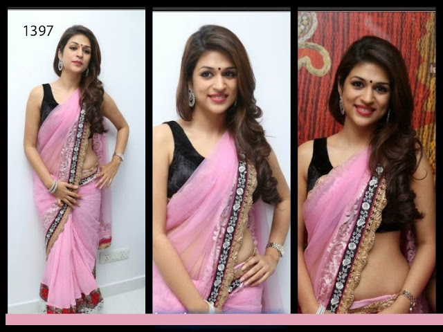 New Bollywood Designer Pink Saree,New Designer Multi Work Saree