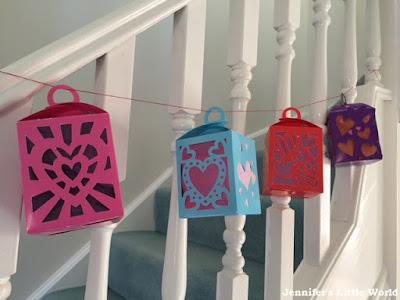Valentine's Day hanging lanterns