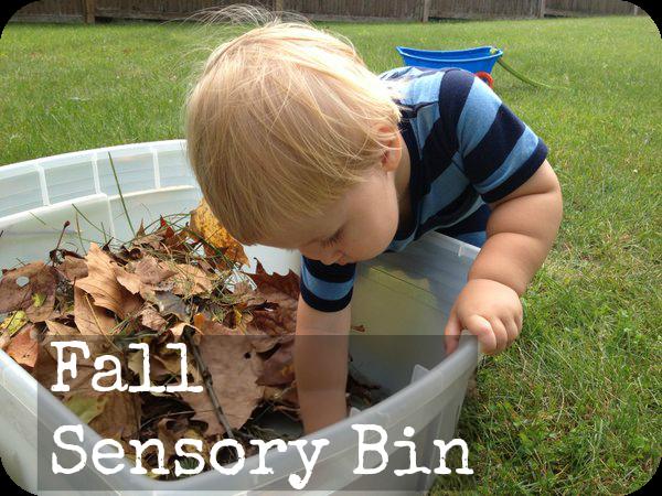 Fall sensory play