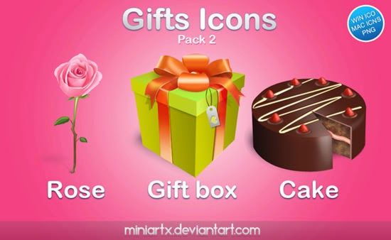Gifts Icons Pack 2