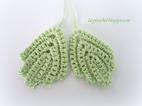 Irish crochet  leaf pattern