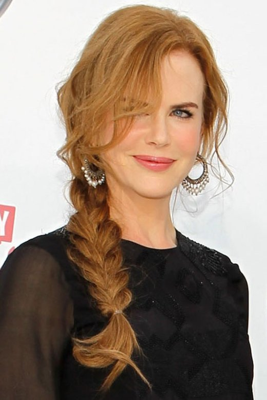HairStyles Nicole Kidmans Loose Braided Hairstyle