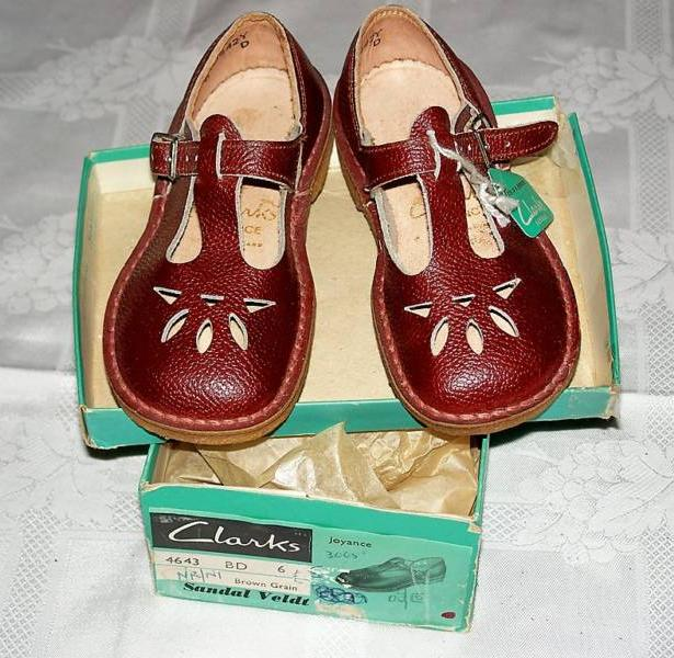 Red Clarks school shoes