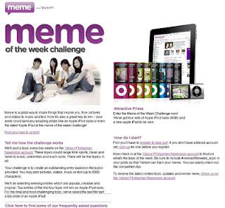 Yahoo Meme service