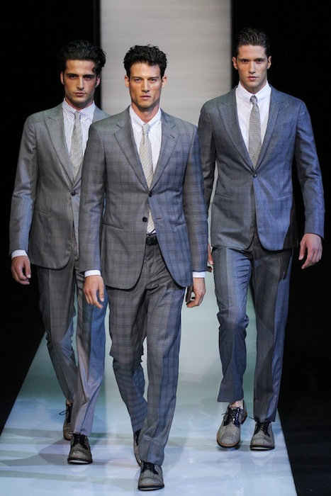 Giorgio Armani Spring-Summer 2013 Milan Men's suits