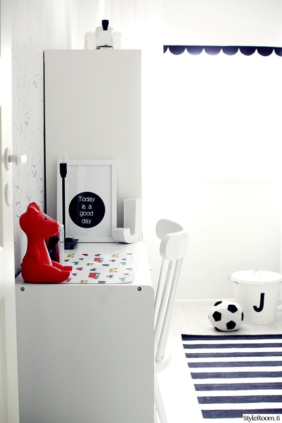 Scandinavian eclectic kids rooms via Styleroom