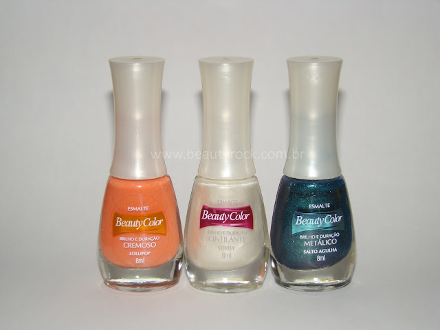 Lollipop, Lovely e Salto Agulha. Esmaltes Beauty Color