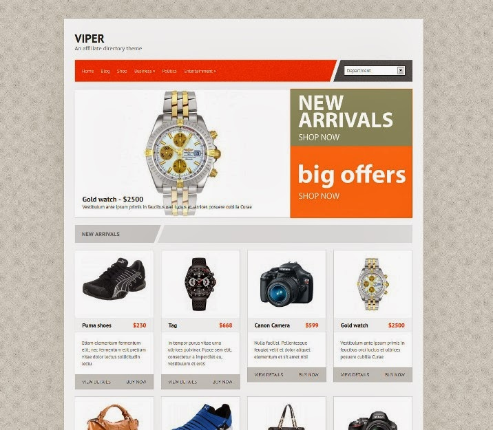 Viper Free WordPress Theme