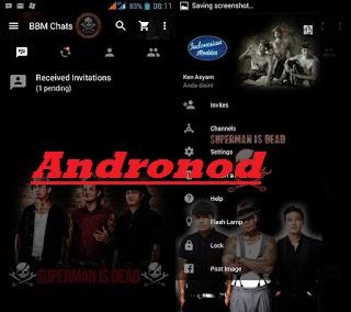 BBM Mod Superman Is Dead Versi 2.11.0.16 Apk Clone