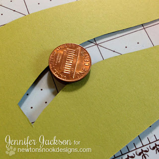 Penny Slider Card tutorial - Newton's Nook Designs - step 5