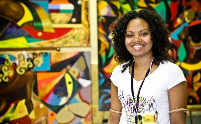 black Brazilian women. Adriana Barbosa, founder of Feira Preta