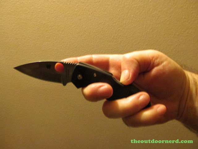 Spyderco Native Pocket Knife: One Handed Lock Release