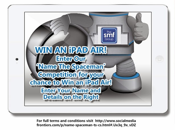 CELEBRATE REACHING 1,000,000 VIEWS WITH US! NAME OUR SPACEMAN FOR YOUR CHANCE TO WIN AN IPAD AIR!