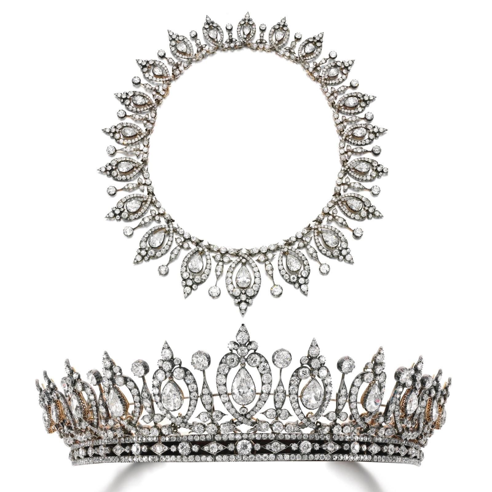 تيجان ملكية  امبراطورية فاخرة Diamond%2Btiara%3Anecklace%2C%2Blast%2Bquarter%2Bof%2Bthe%2B19th%2Bcentury%2Bmary%2C%2Bduchess%2Bof%2Broxburghe