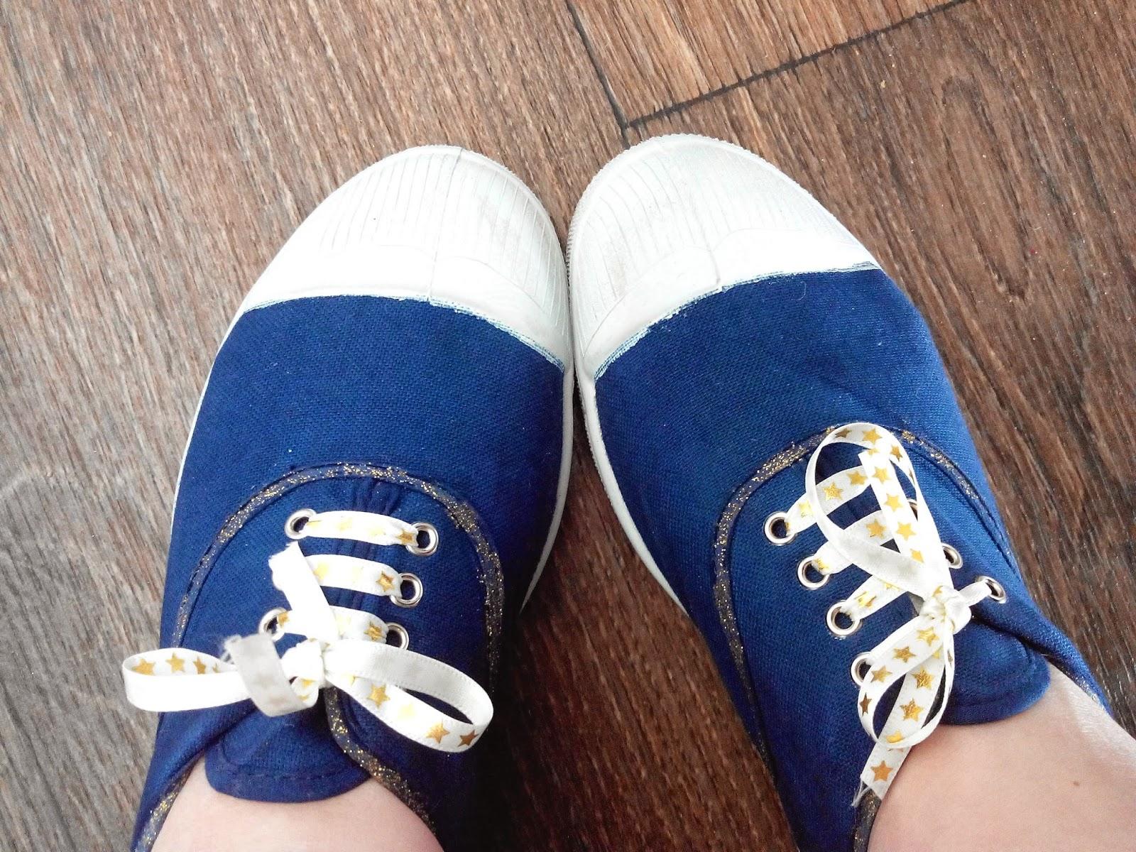 Bensimon chaussures customisation diy bullelodie