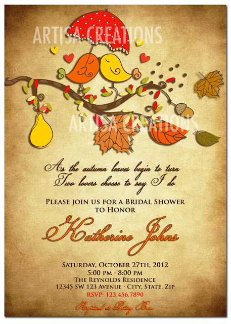 Autumn Bridal Shower Invitations6