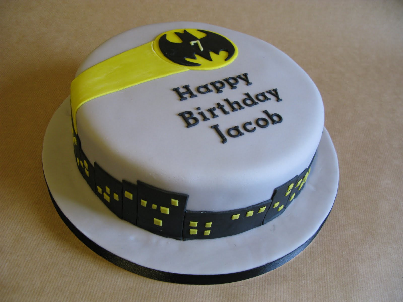 Batman Gotham City Cake