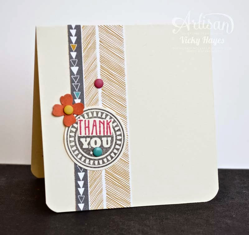 Use just a little designer paper on a card for maximum impact!