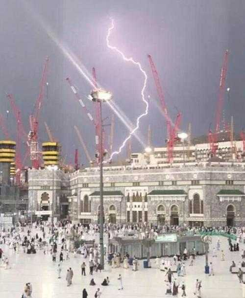 Storm Strikes Mecca Mosque While U.S. Mourns 911: 107 Dead After Crane Collapse