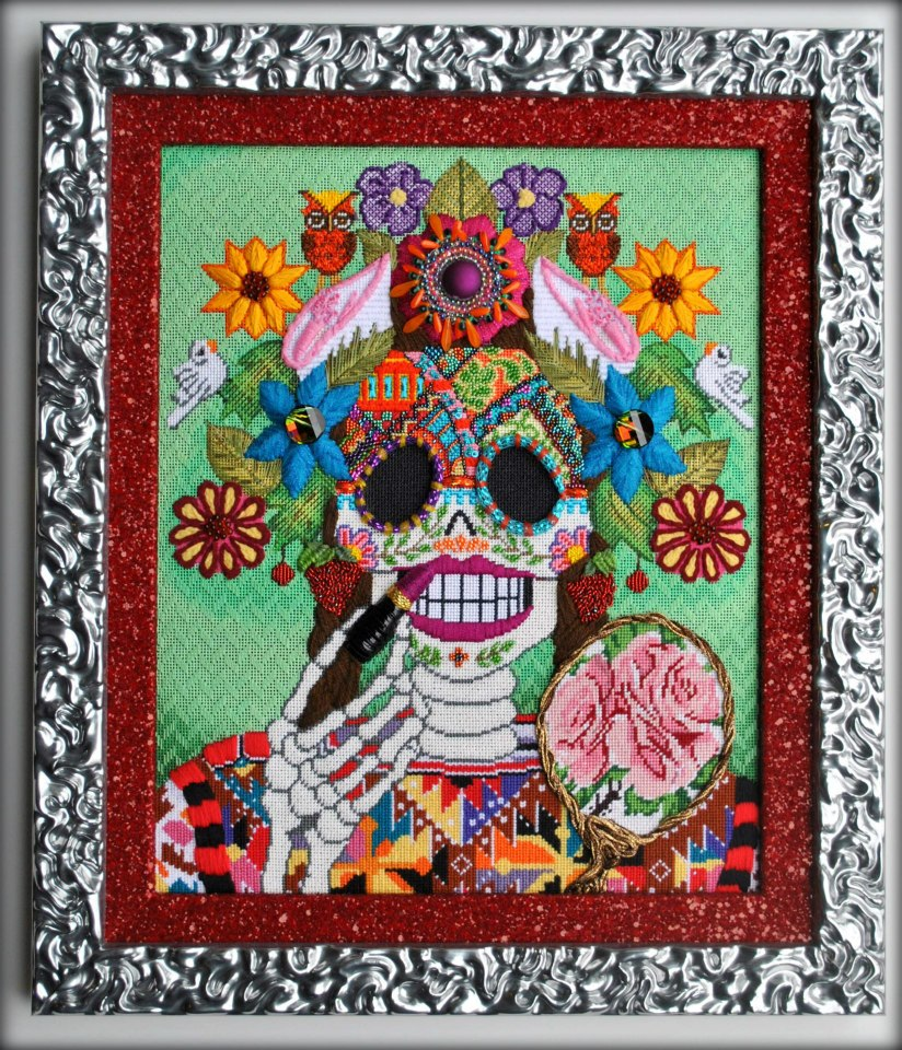 What\'s new At Frame By Frame: Sugar Skull Needlepoint