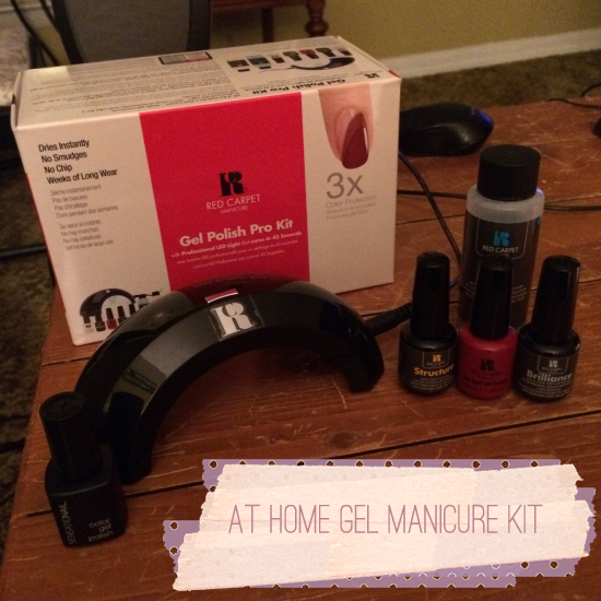 with the red carpet manicure brand at home gel polish kit which comes