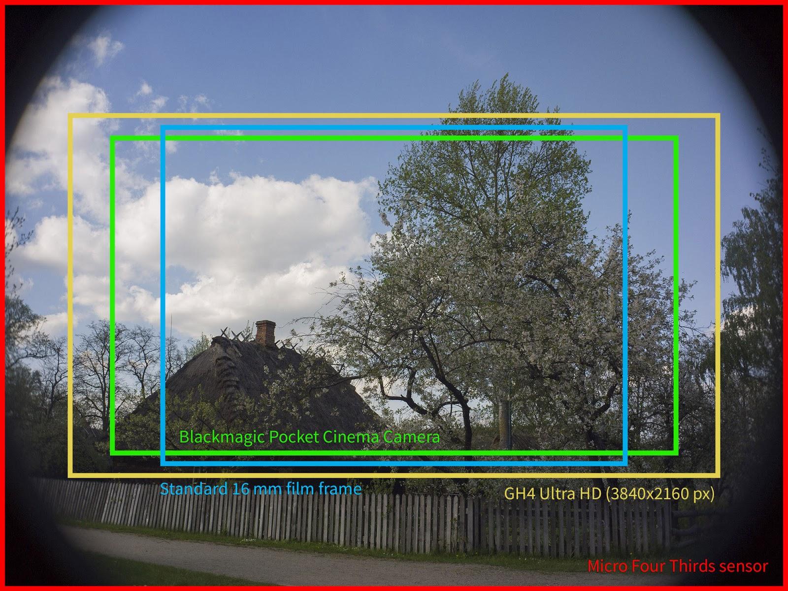 Tevidon 16/1.8 @8 - MFT, BMPCC, GH4 UltraHD sensor coverage.