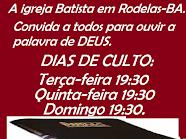 Igreja Batista em Rodelas-BA.