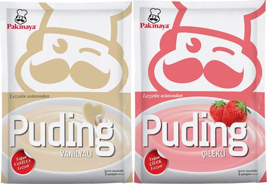 Pakmaya pudingler, sıcak yaz iftarları için bire bir.