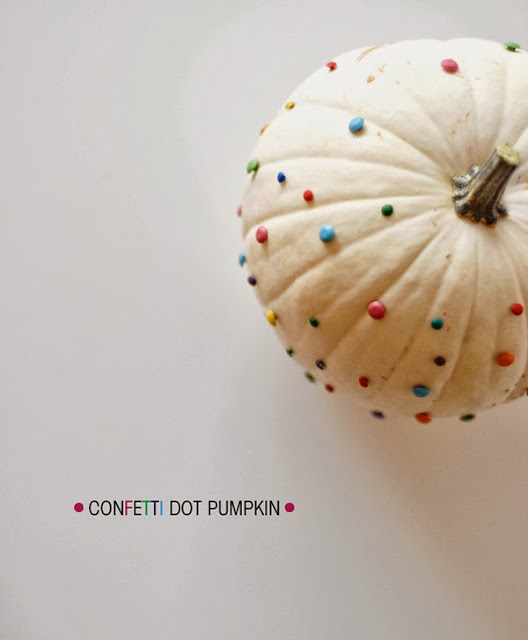 confetti dot pumpkin diy