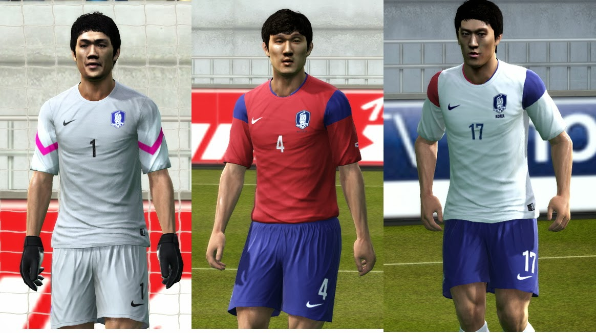 PES 2013 South Korea 2014 GDB Kits by argyris