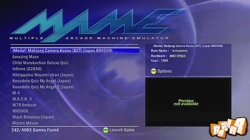 MAME 0.72 Release 2 para Xbox 360