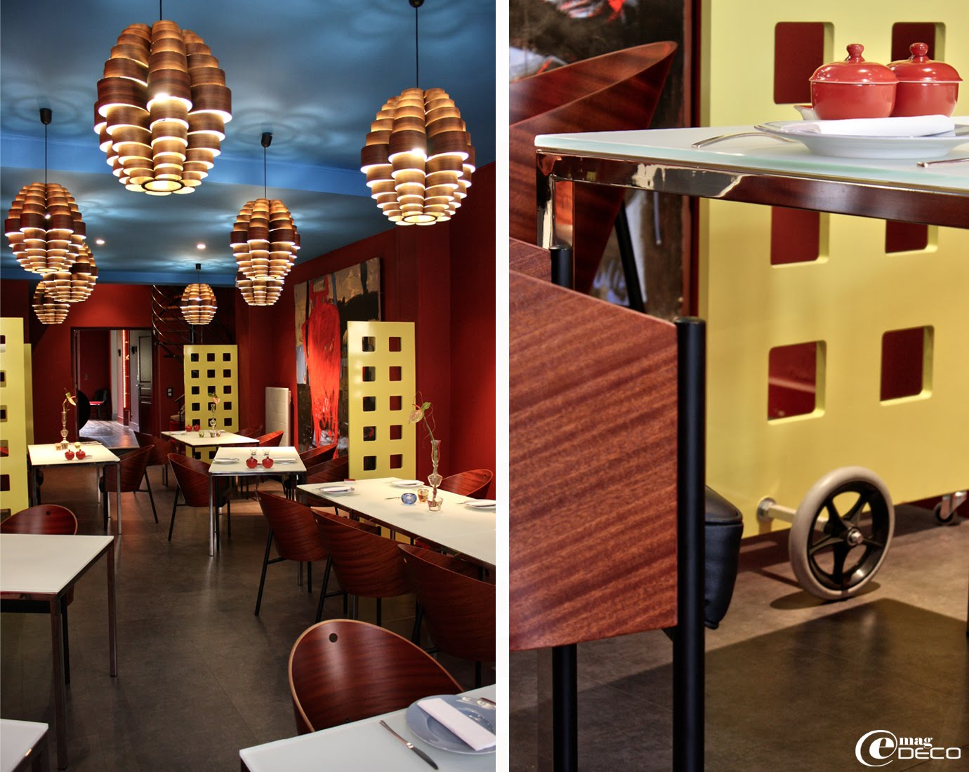 Salle de restaurant de l'hôtel La Maison Bord'Eaux