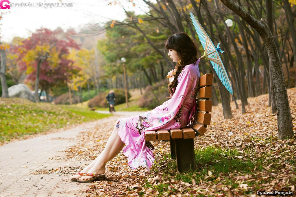 xxx nude girls: Lee Ga Na in Kimono