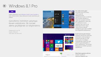 Windows 8.1 Mağaza İndirme