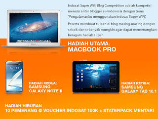 Super WiFi Blog Competition Dari Indosat