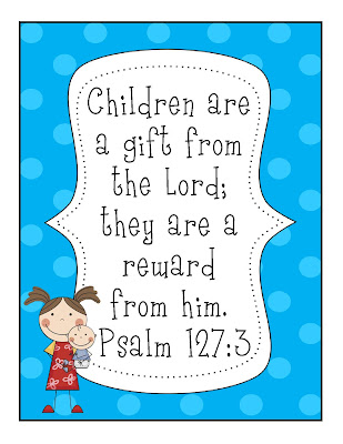 gwhizteacher, ID badge verse, psalm 127:3